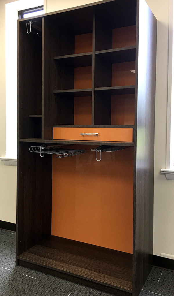 Abstract style closet cabinetry