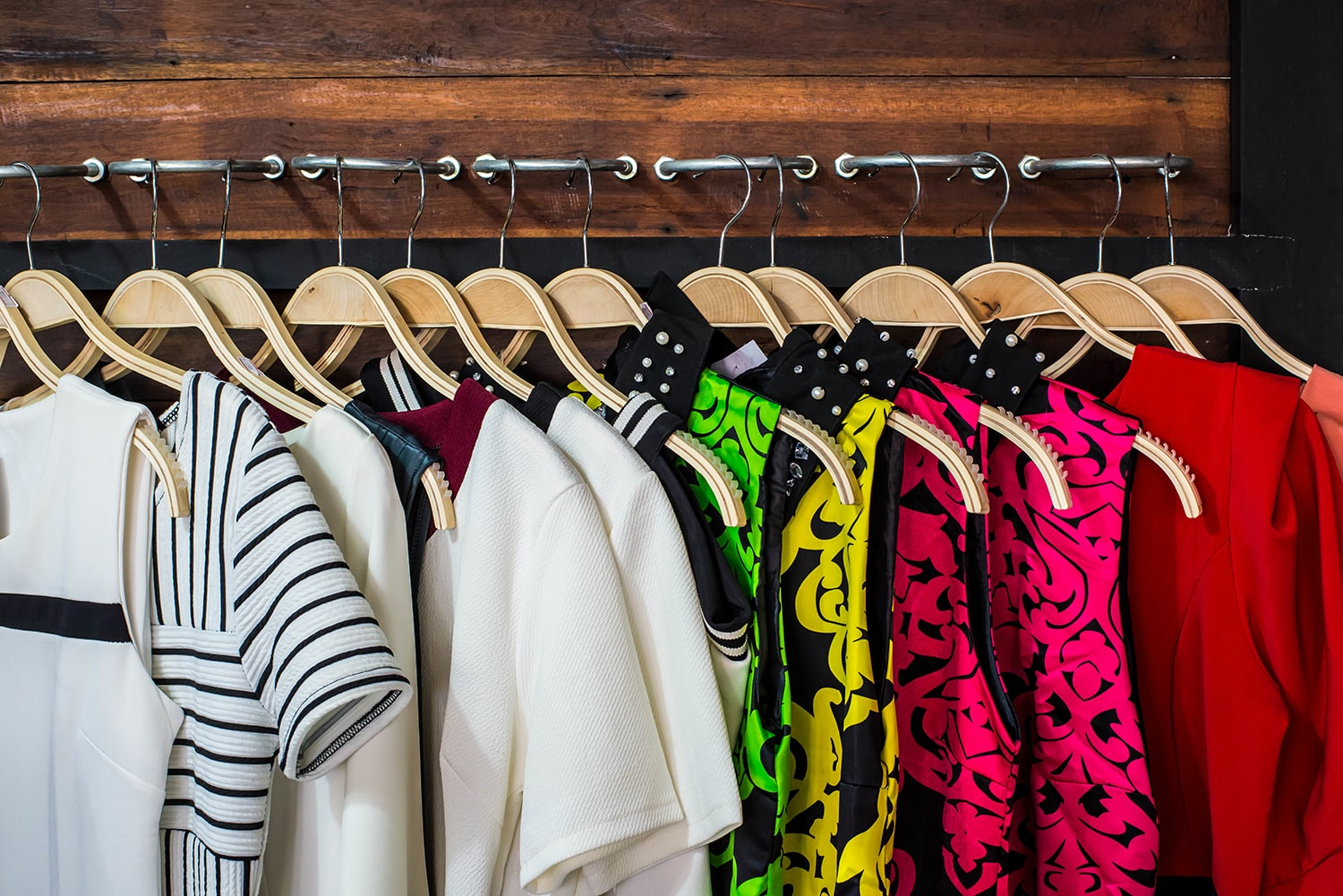 closet city accessories Blouses hanging on handles